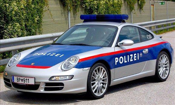 Exotic Police Cars: Germany & Austria Porsche 911