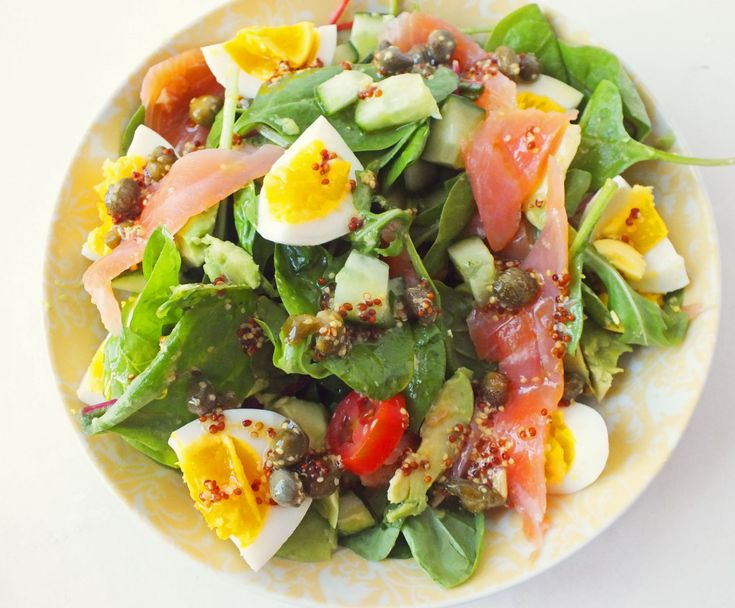 Avocado, Smoked Salmon and Egg Salad