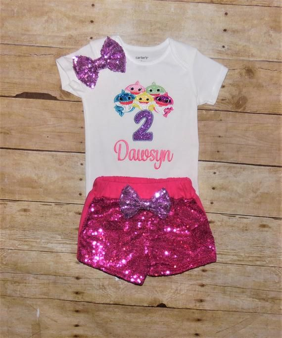 ef6ea2ad036 Baby Shark song birthday outfit
