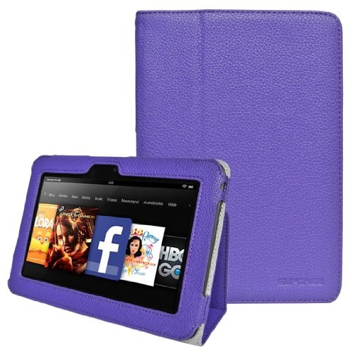 #good Supcase(TM) Slim Fit Leather Case Cover (Purple) for Amazon Kindle Fire HD 7 inch Tablet (with Auto Wake/Sleep FunctionS   - http://wp.me/p291tj-dZ