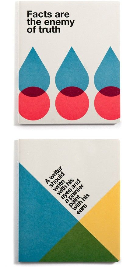 Office Milano created notebooks for Ogami featuring designs in the International Typographic Style.