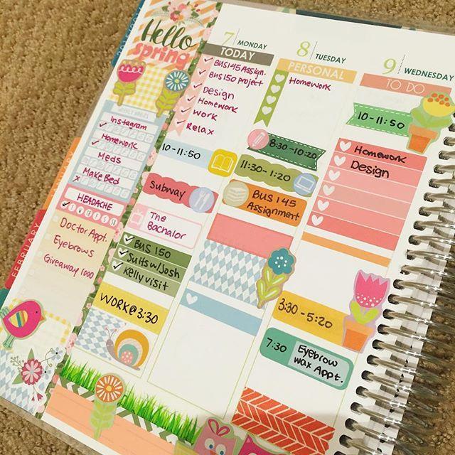 Sneak peek at this week ☀️ it's very spring themed! I love it #plannergirl #planneraddict #plannerfriends #plannerlove #planning #planner #plannergoodies #stationery #love #cute #crafts #diy #plannersupplies  #plannernerd #erincondren #erincondrenlifeplanner  #eclp #weloveec #washitape #instaplanner #plannercommunity #planwithme #etsy #stickers ✨