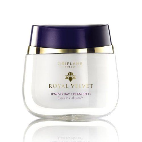 Royal Velvet Firming Day Cream SPF 15, 50 ml/ +40 years . Imported from Europe/ Not available in USA by Oriflame. $85.00. New Royal Velvet Firming Day Cream SPF 15, 50 ml/  +40 years . Imported from Europe/ Not available in USA/ Not available in USA  A new and advanced Day Cream with a rich, sensual formula that firms, strengthens and intensely hydrates the skin. Enriched with the unique Black Iris Infusion, it leaves your skin feeling softer, firmer and visibly younger fo...