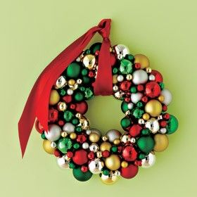 The 25 best ornament wreath ideas on pinterest christmas diy glass ball ornament wreath under 15 solutioingenieria Images