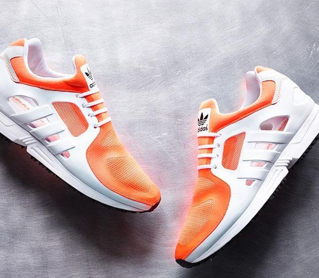 online retailer 7597e 49db2 adidas eqt racer 2.0 solar orange running white core black