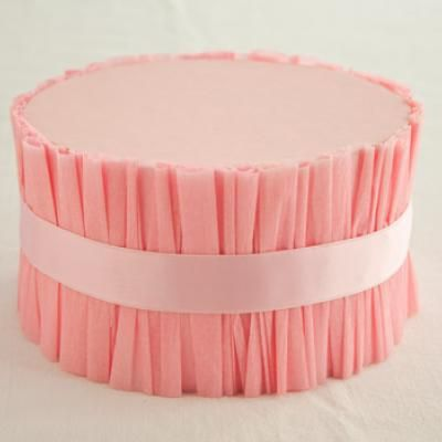 DIY Ruffled Cake Stand: inexpensive, would be cute for an engagement party in different pastel colors