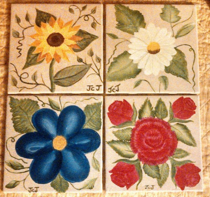 Beautiful Handmade Trivet 6 X 6 Ceramic Tile Decorative