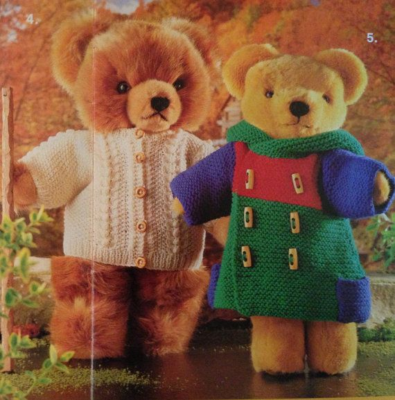 Knitting Patterns For Teddy Bear Outfits : Teddy Bears Clothes Knitting Pattern Book - 26 Designs for ...