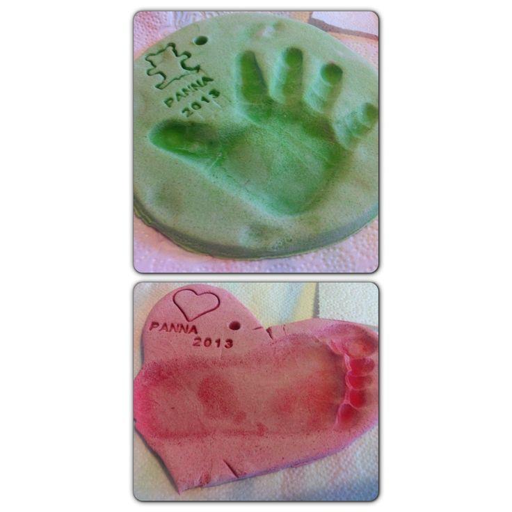 Handprint, feetprint