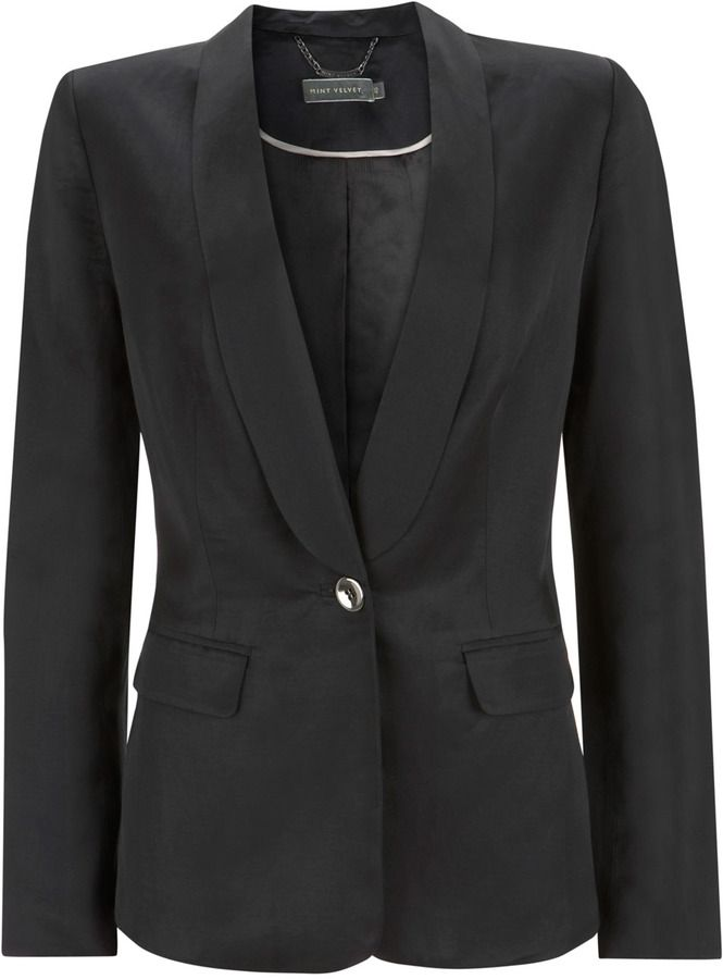 Mint Velvet Black Satin Tuxedo Jacket on shopstyle.co.uk
