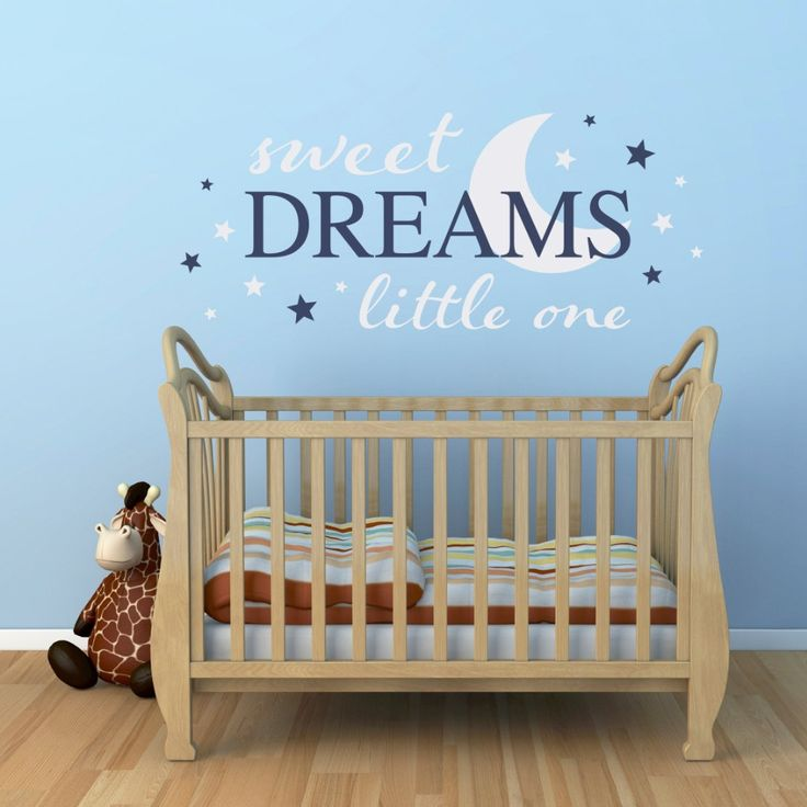 Quote Wall Decal Sweet Dreams Little One Wall Stickers Baby Boys Girls  Bedroom Cute Kids Nursery Part 49