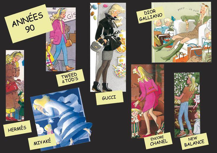 La Mode des Triplés - Années 90 - for more inspiration visit http://pinterest.com/franpestel/boards/