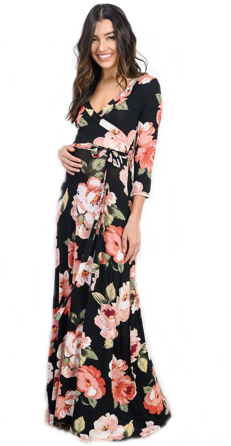 Get this gorgeous maternity maxi dress from Laura Belle Boutique!