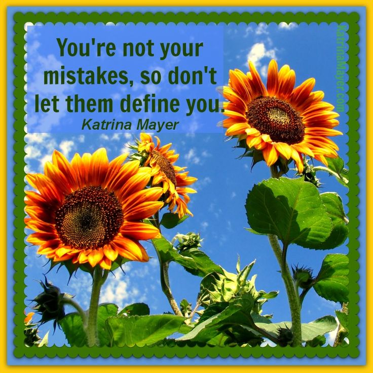 Youu0027re Not Your Mistakes So Donu0027t Let Them Define You. Katrina