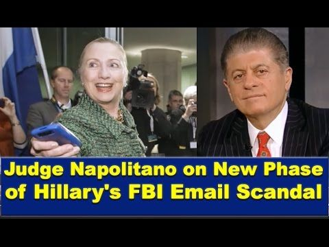 Judge Andrew Napolitano on FBI's New Phase of Hillary Email Scandal 160328......3/28/16.....GOOD ONE.