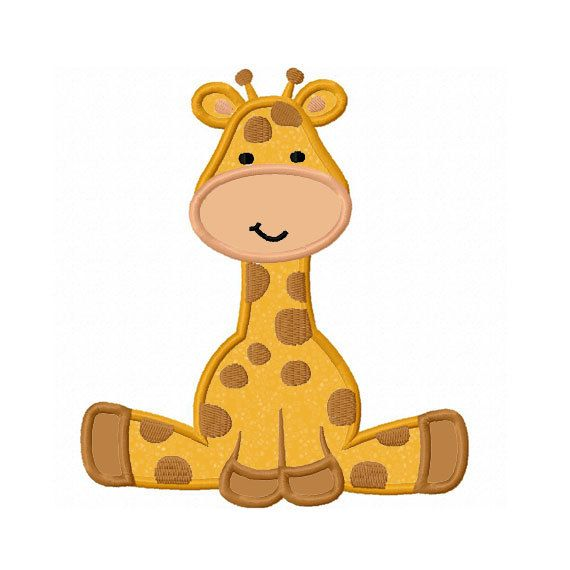 Giraffe baby Applique Machine Embroidery by LovelyStitchesDesign