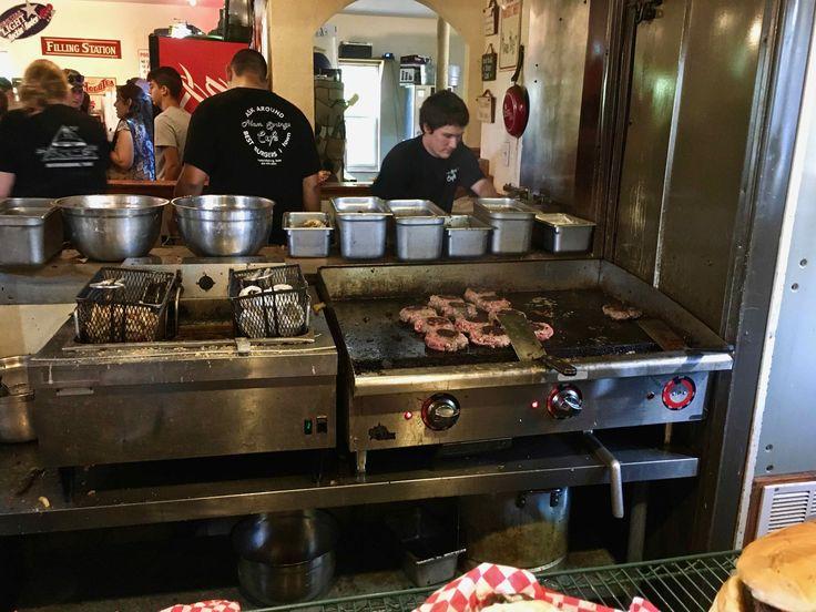 inside Alamo Springs Cafe in Comfort Texas http://www.placesiveeaten.com/blog/alamo-springs-cafe
