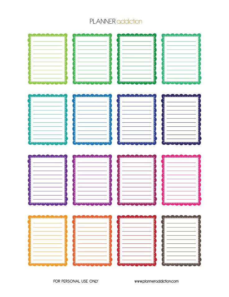 Free Printable Frames Planner Stickers {PDF, JPG and Silhouette Files} from Planner Addiction