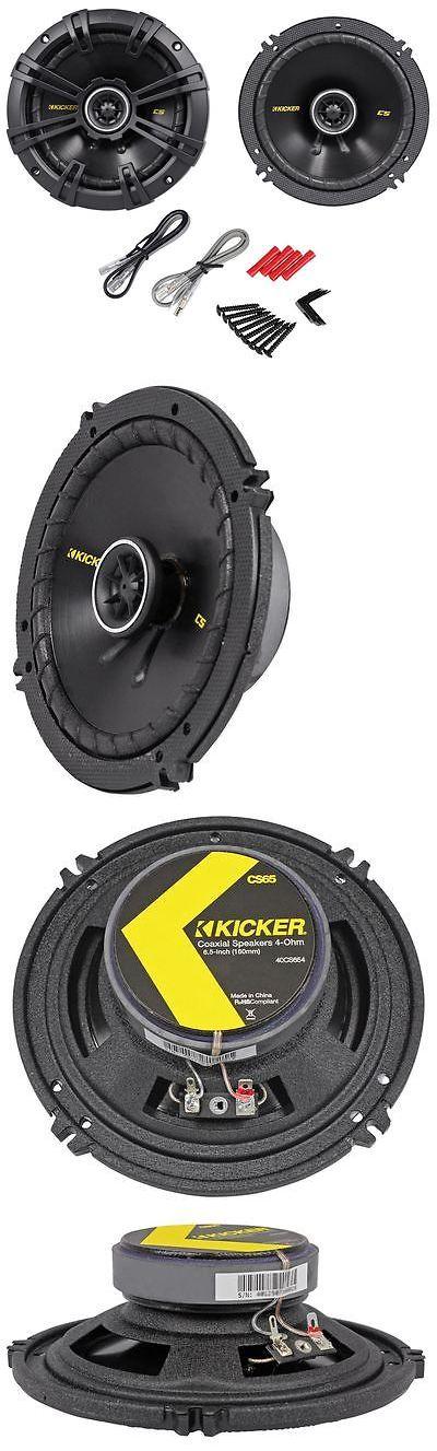Car Speakers and Speaker Systems: Kicker 40Cs654 Cs65 6.5 6-1/2 300 Watt 4-Ohm 2-Way Car Audio Coaxial Speakers BUY IT NOW ONLY: $59.95