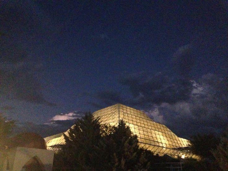 Biosphere 2...at night!