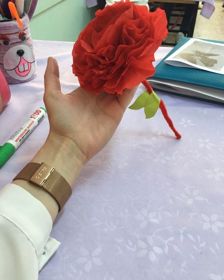 Krafondan Çiçek  Çiğdem öğretmen