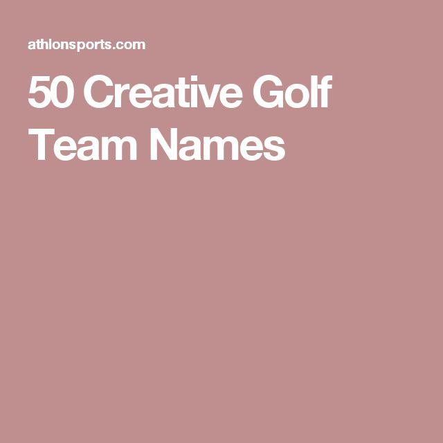 50 Creative Golf Team Names