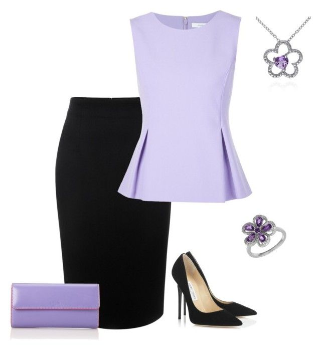 """""""outfit 3079"""" by natalyag ❤ liked on Polyvore featuring Alexander McQueen, Diane Von Furstenberg, Jimmy Choo, Belk & Co., Lord & Taylor, Lodis, women's clothing, women's fashion, women and female"""