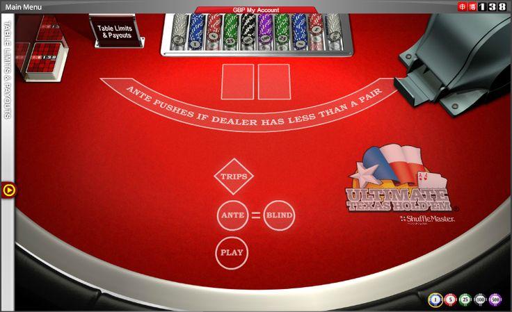 Ultimate Texas Hold'em - #online #casino #poker #cards #games #138.com