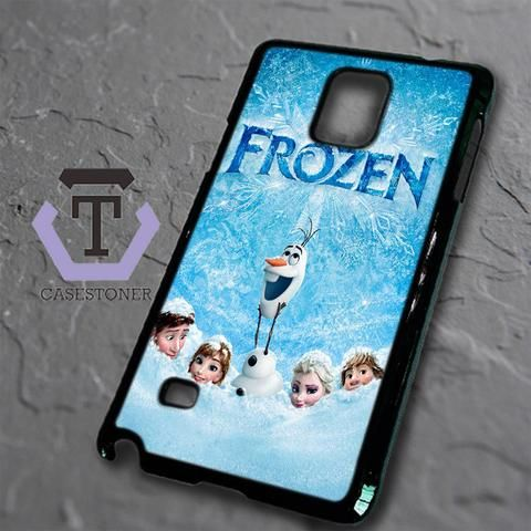 Disney Frozen Cover Poster Movie Samsung Galaxy Note Edge Black Case