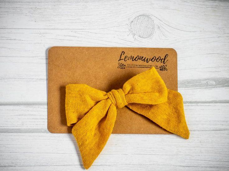 Mustard Sailor Bow || Fall 2019 Collection || Lemonwood