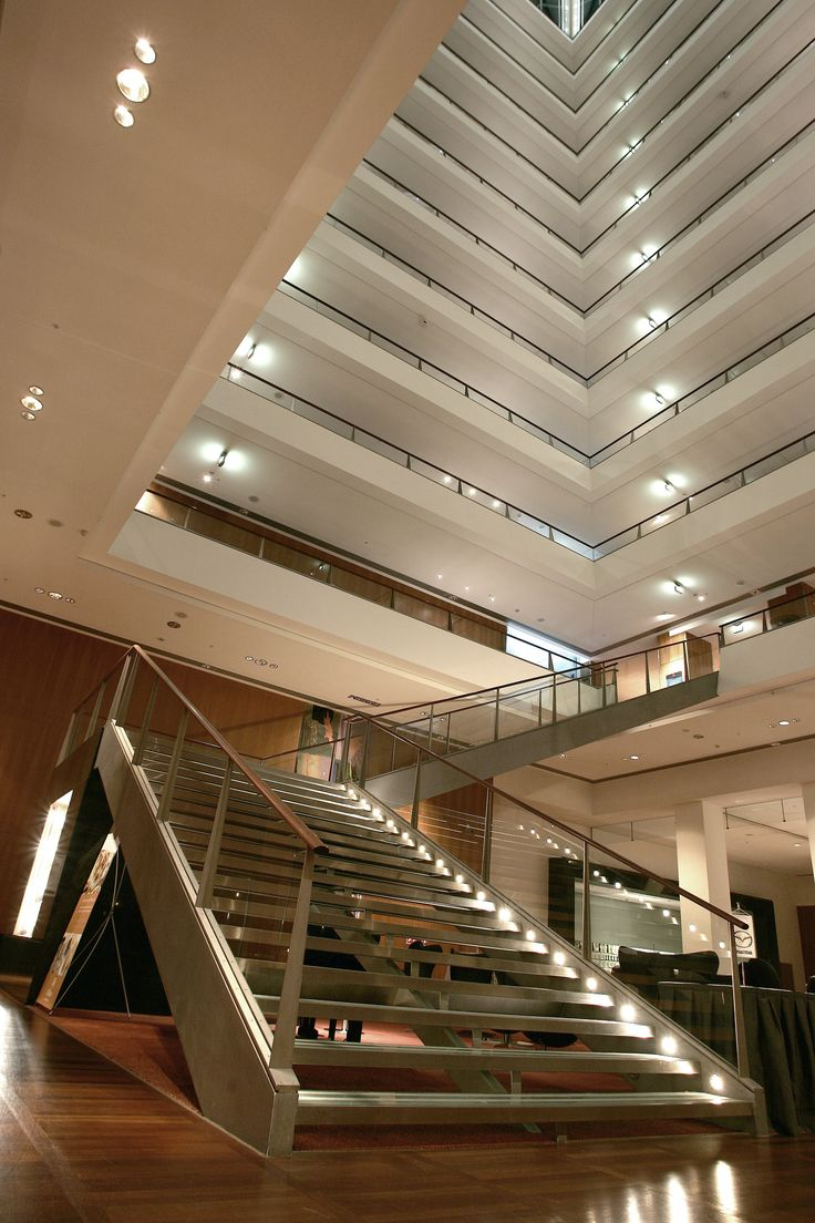 Inside Hotel Hilton at Copenhagen Airport.