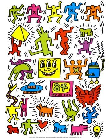 116 best images about skateboard project on pinterest - Keith haring shower curtain ...