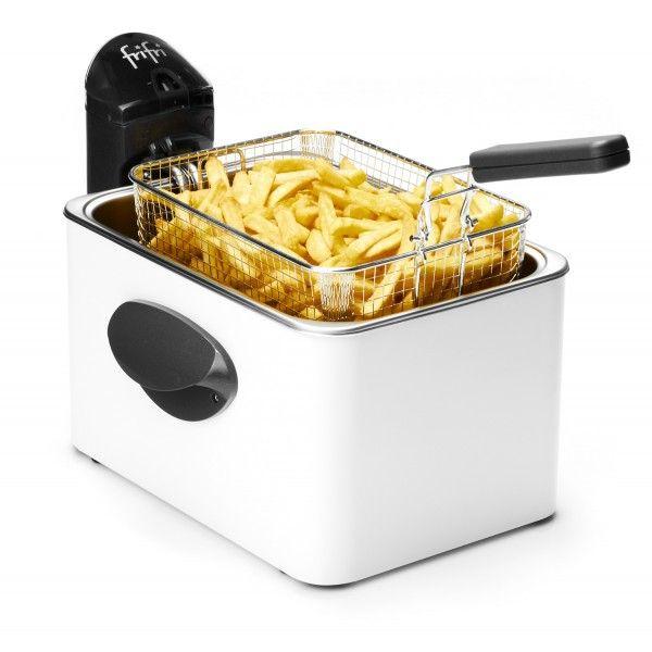 Friteuse Frifri 1948B Avec une capacité de 4,5L, la Friteuse Frifri 1948B est la friteuse idéale pour les familles nombreuses de 5 à 6 personnes. Le meilleur moyen pour réaliser des frites maison de qualité en quantité suffisante. La Friteuse 1948B existe également en aluminium.