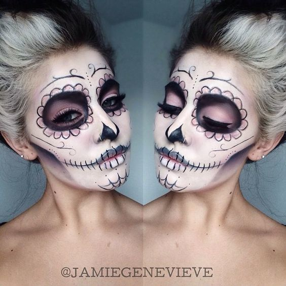 Spectral Vision - Celebrate Day of the Dead With These Sugar Skull Makeup Ideas - Photos