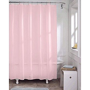 $9 \\ AmazonSmile: Mildew Free Waterproof Vinyl Pink Shower Curtain Liner - PINK: Bedding & Bath
