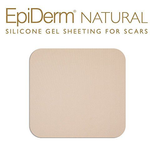 Epi-derm Standard Sheet (Natural) from Biodermis:   The standard Epi-Derm silicone gel sheet provides a healing environment beneficial for burn scar reduction & therapy, as well as treatment of medium to large keloid and hypertrophic scars from surgery or trauma. It can be wrapped around a limb or cover medium scar areas on the torso, and can be trimmed for custom fitment.