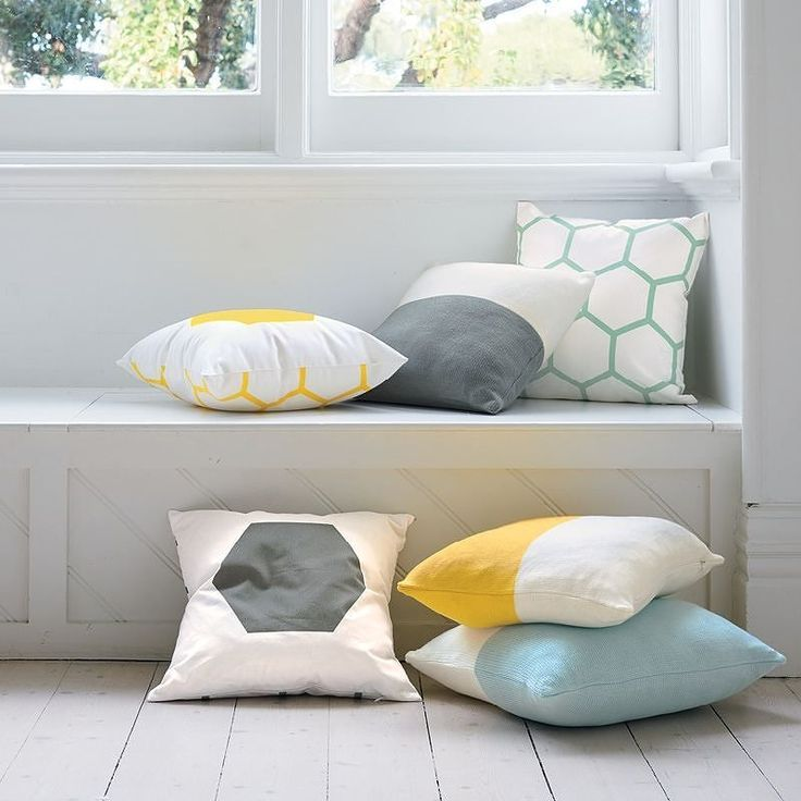 Light and airy atmospheres perfectly finished with these chic yet casual Agota cushion covers