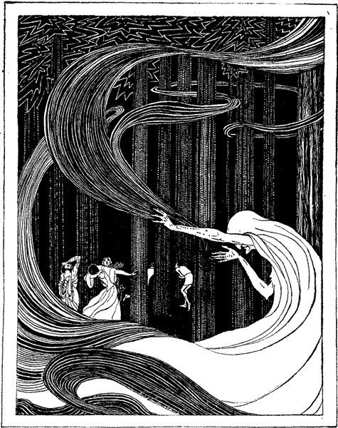 Fairy Tales by Jennie Harbour. 'The White Fawn' 1921 #classic #illustration #bw