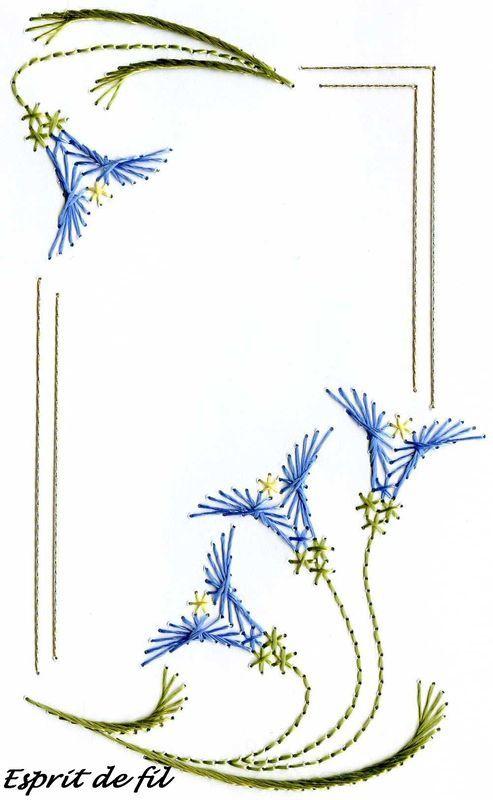 Carte corolle bleue