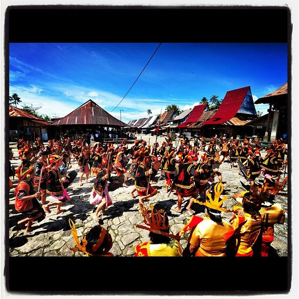 The colossal War Dance from Nias