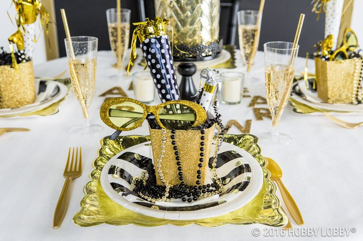 Celebrate New Year's Eve in style with a golden-themed party that's fit for a king!