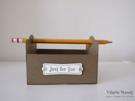 Cute Tool Box for Father's Day (or teacher appreciation day) using the Two Tags die.  Tutorial included.  (May'12)