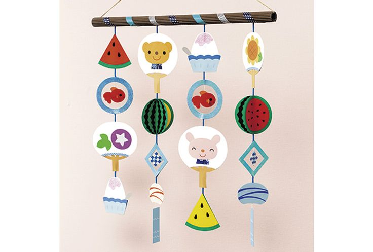 夏の吊るし飾り あなたの保育をサポートする My Wonder マイワンダー 七夕 製作 保育 ガーランド 手作り 折り紙 季節ごとのデコレーション