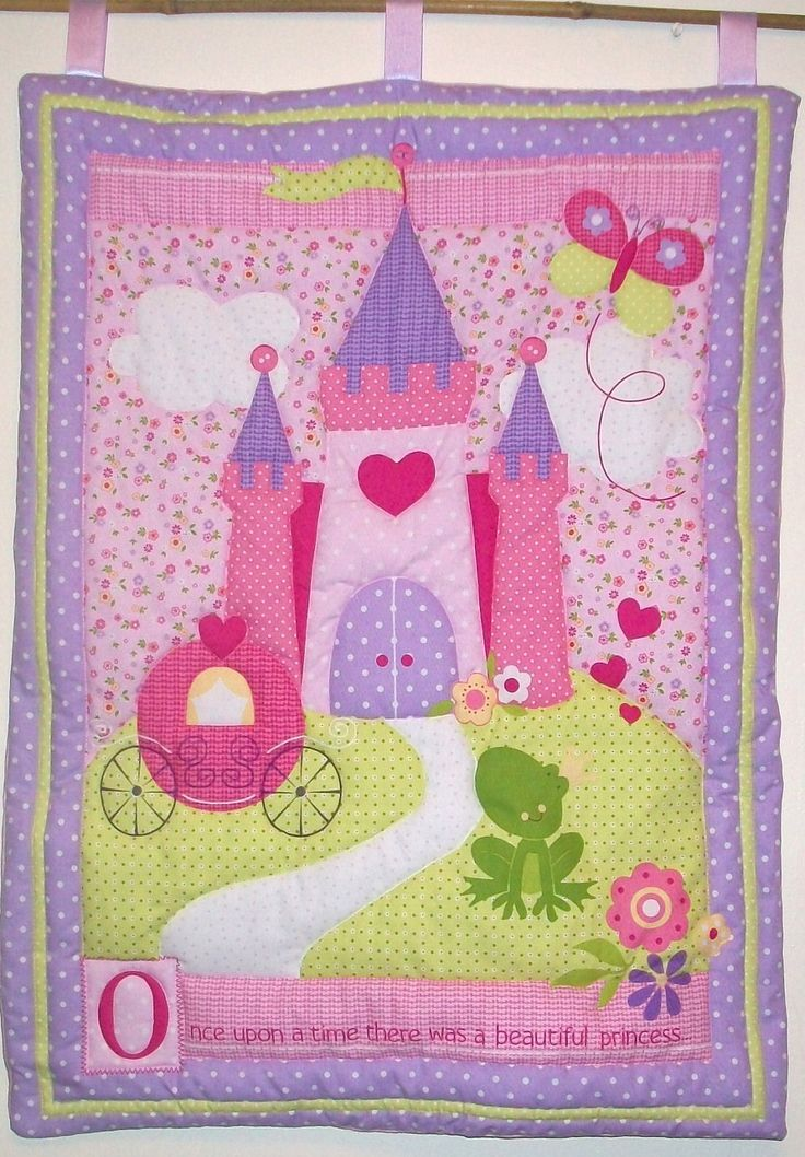 Princess Fairy Castle Quilted Wall Hanging by lilacelephant, £49.00