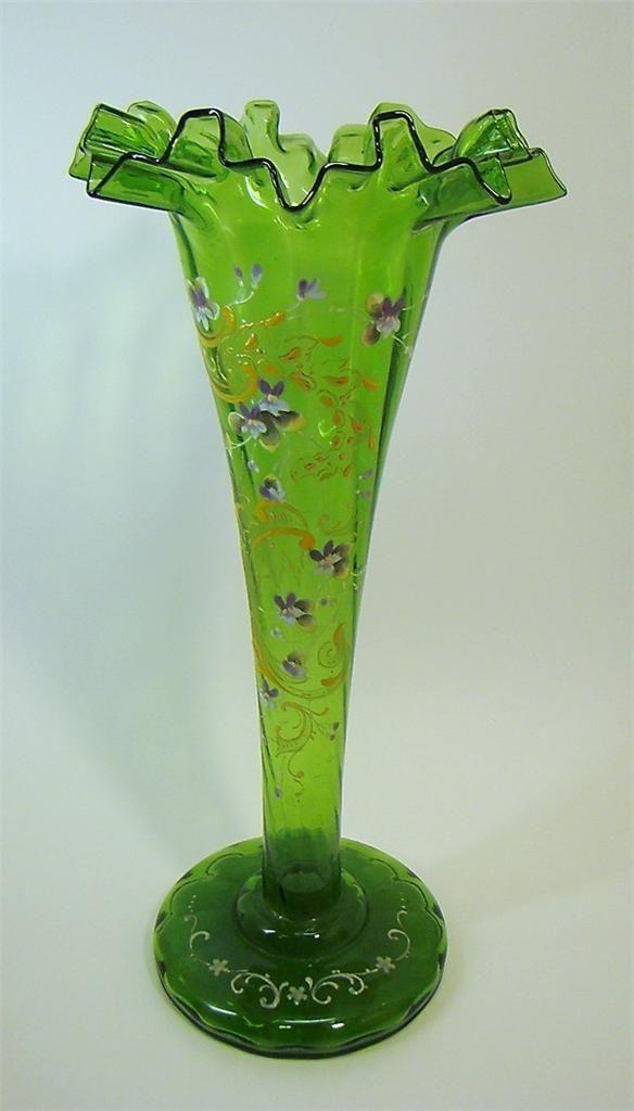 Art Glass Hand Enamelled Antique