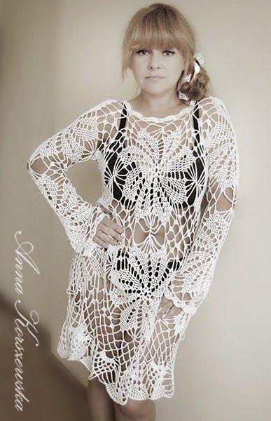 www.polandhandmade.pl, #polandhandmade,  #CrochetDress, #Lace