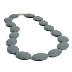 Teething Necklace - Hudson Stormy Grey