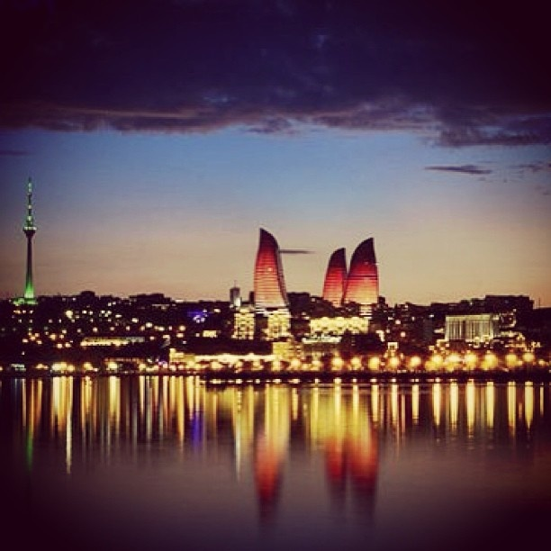 "@fairmontbaku's photo: ""The Flame Towers have changed  Baku's skyline. Amazing view!!! #flametowers #fairmontbaku"""