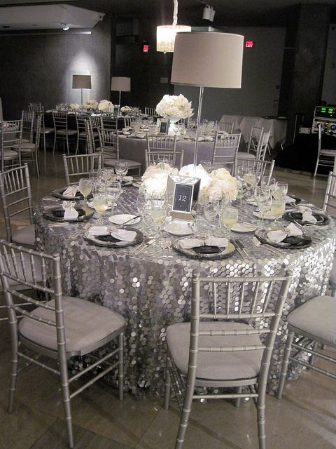 gray and silver wedding