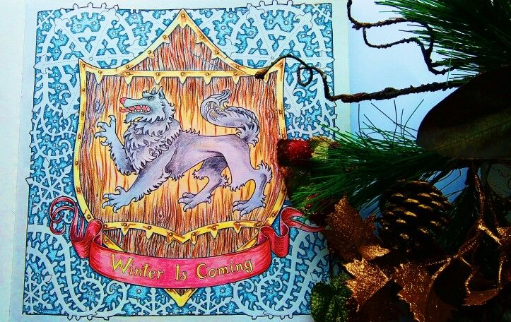"""""""the Game of Thrones"""" - """"Winter is caming"""", coloring book"""